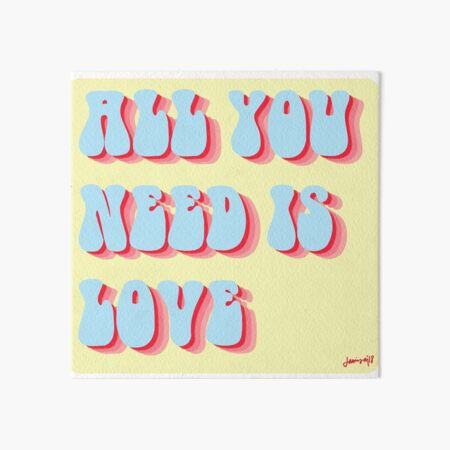 All You Need is Love Retro Art Board Print