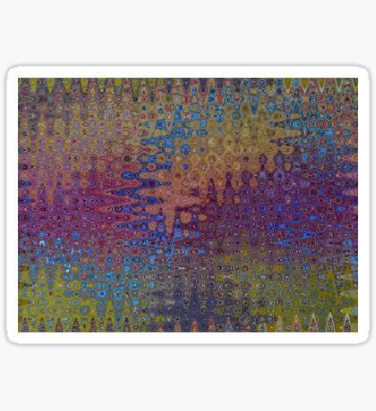 Psychedelic Pattern |Seismidellic Waves Sticker