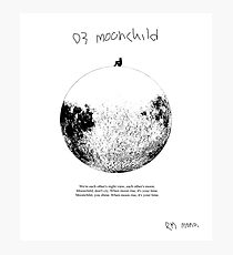 RM Mono. - Moonchild  Photographic Print