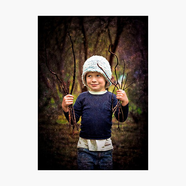 ...the woodcutters' son... Photographic Print