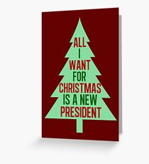 Impeach Donald Trump Funny Political Christmas Greeting Card