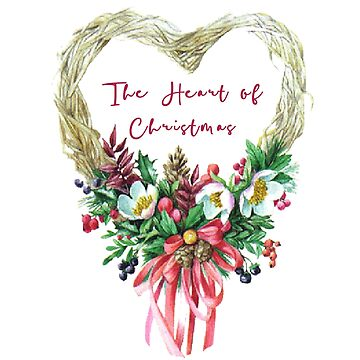 The Heart of Christmas Wreath  by Digitalbcon