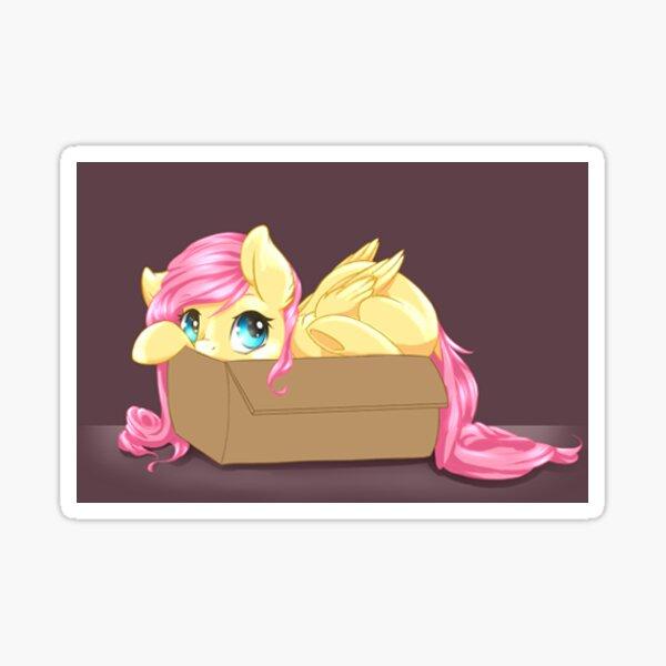 FlutterShy Box Hide Sticker
