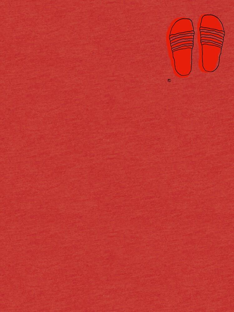 Badelatschen - One Line Drawing von philaoppel