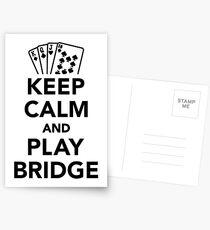 Keep calm and play bridge Postcards