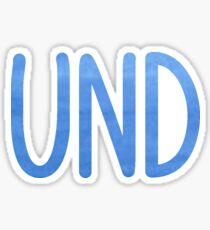 UND Sticker
