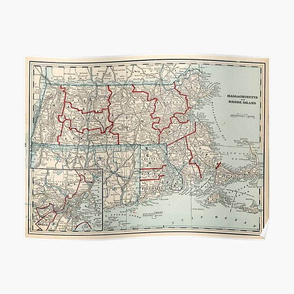 "U.S Revolutionary War /""Seat of War/"" Map Poster in 5 Sizes 1776"