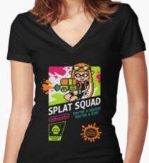 SPLAT SQUAD Women's Fitted V-Neck T-Shirt