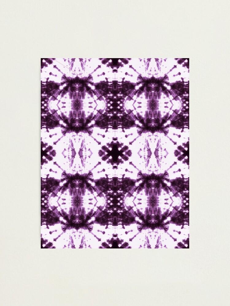 Alternate view of Ikat Shibori Violet Photographic Print