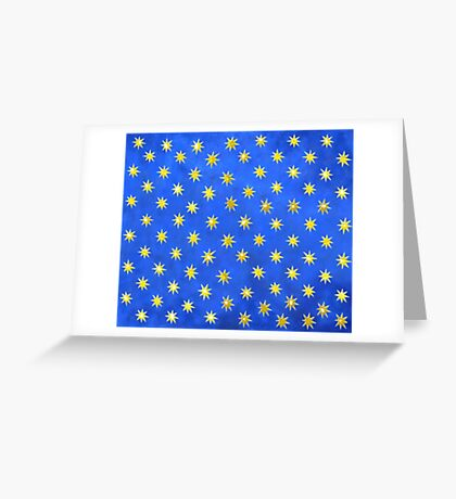 Star Background Greeting Card