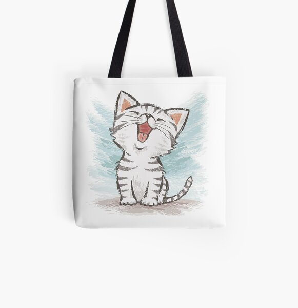 American Shorthair happy All Over Print Tote Bag