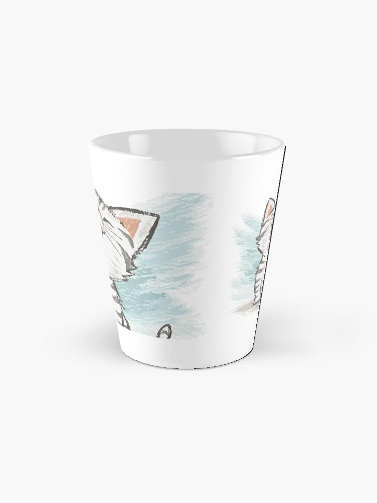 Alternate view of American Shorthair happy Mug