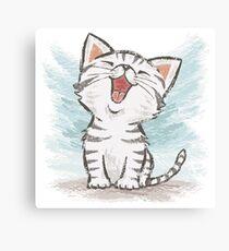American Shorthair happy Canvas Print