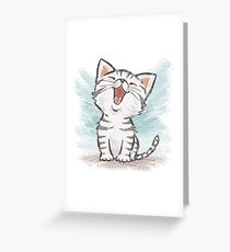 American Shorthair happy Greeting Card