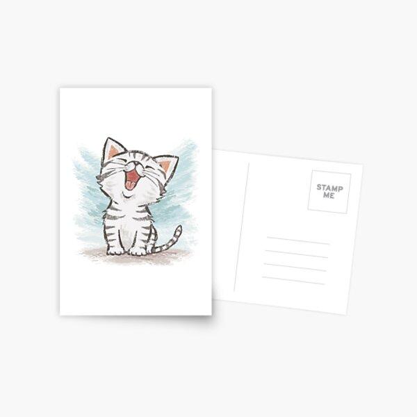 American Shorthair happy Postcard