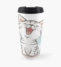 American Shorthair happy Travel Mug
