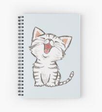 Cuaderno de espiral American Shorthair feliz