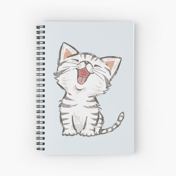 American Shorthair happy Spiral Notebook