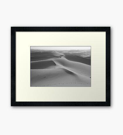 Dunes undulating to the horizon Framed Print