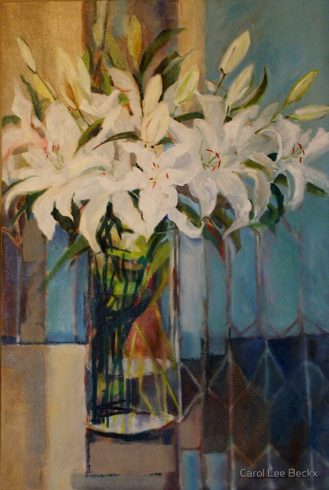 White Lilies by Carol Lee Beckx