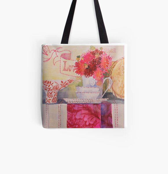 Love Dahlia All Over Print Tote Bag