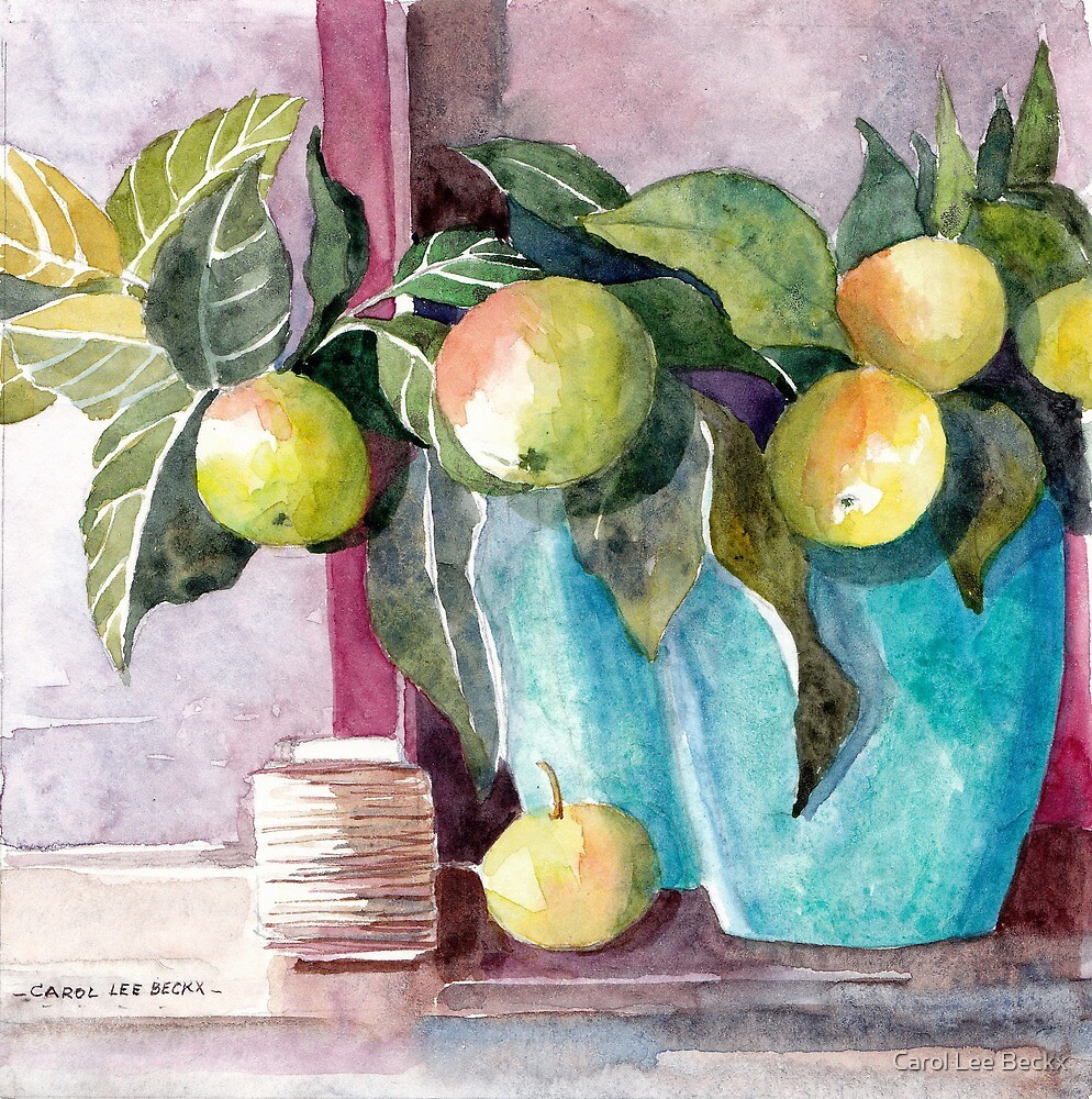 Green Apples by Carol Lee Beckx