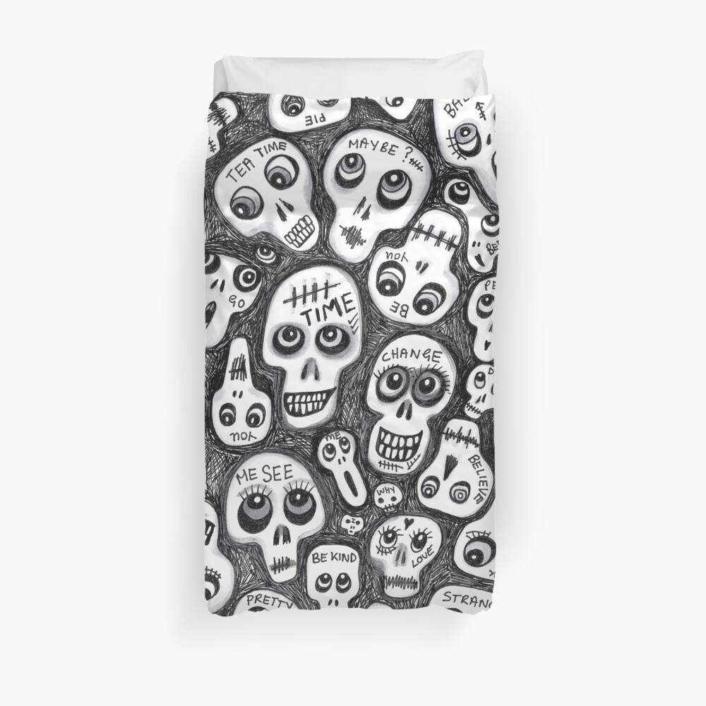 The Skull People Duvet Cover