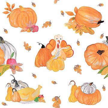 Thanksgiving pumpkin and turkey pattern by craftmania