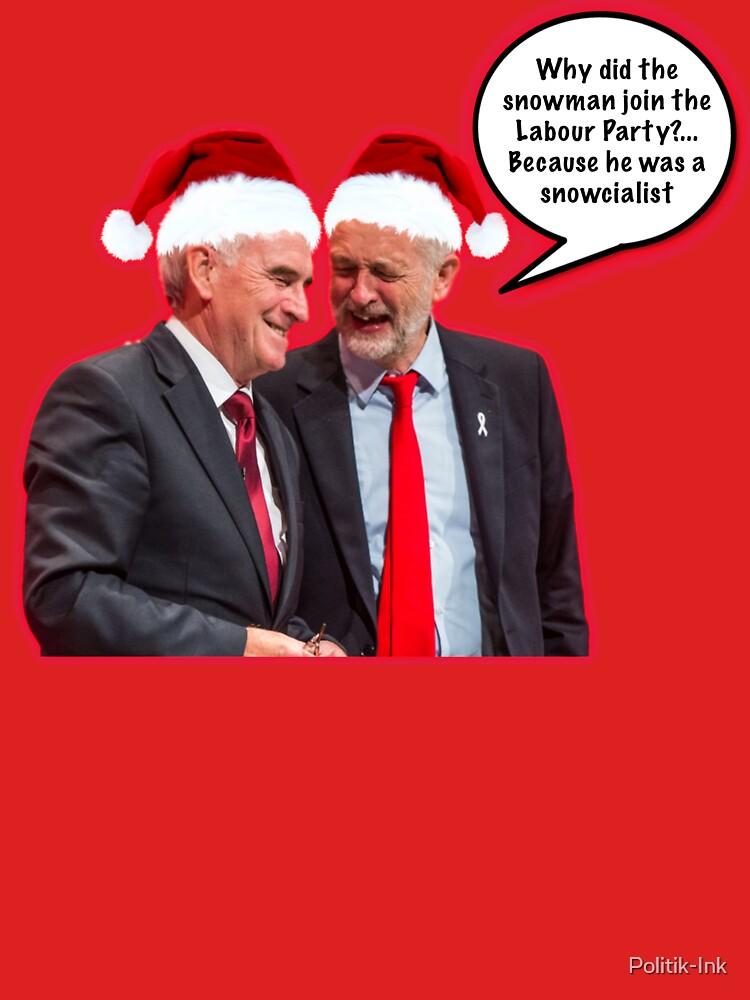 Jersey de Navidad de Jeremy Corbyn, sudadera con capucha, camiseta de Politik-Ink