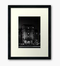 Black and White Street Framed Print