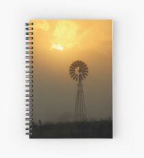 Windmill Sunrise Spiral Notebook