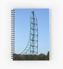 Kingda Ka - Worlds Tallest and Fastest Roller Coaster Spiral Notebook