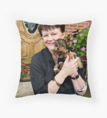 """Maggie and """"Mommy"""" Throw Pillow"""
