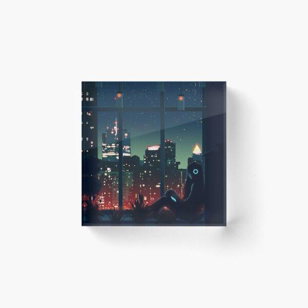 A Quiet Night Acrylic Block