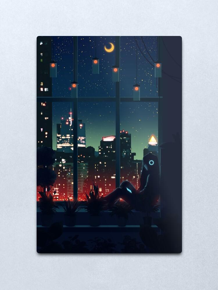 Alternate view of A Quiet Night Metal Print