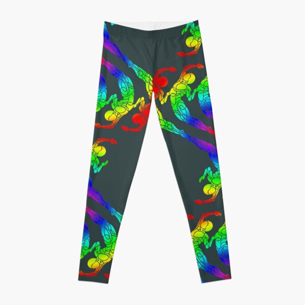 Pride Waves Pattern Leggings