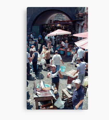 Catania Fish Market Canvas Print