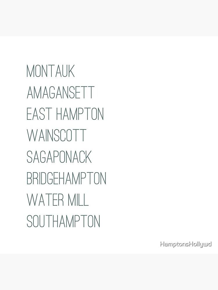 Hamptons Towns by HamptonsHollywd