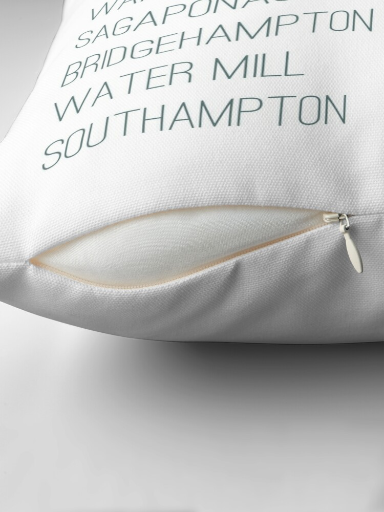 Alternate view of Hamptons Towns Throw Pillow