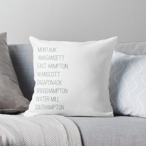 Hamptons Towns Throw Pillow