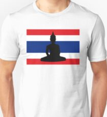 Thailand flag Buddha Unisex T-Shirt