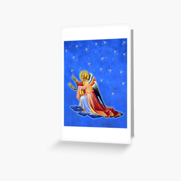 Gothic Angel with Starry Sky #3 Greeting Card