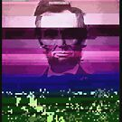 Abraham Lincoln Glitch Art Digital Glitched by thespottydogg