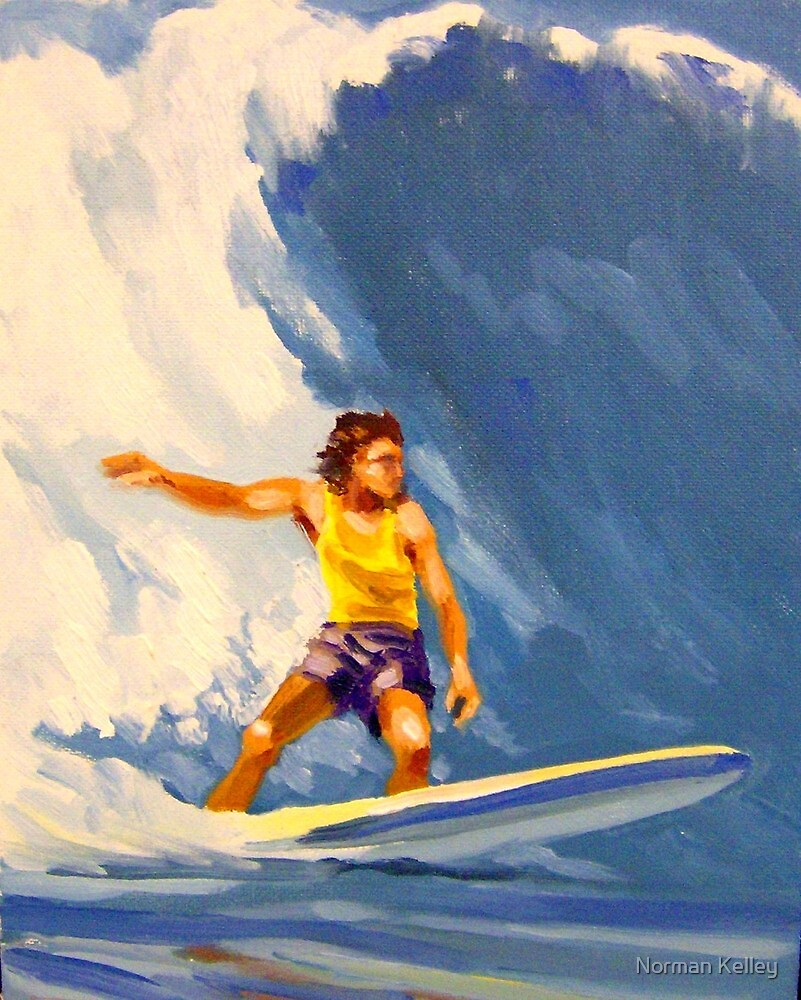 Surfing Hawaii Number 2 by Norman Kelley