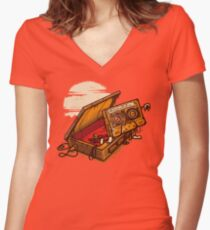 Dead Man Walkmann Women's Fitted V-Neck T-Shirt