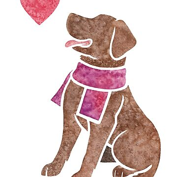 Watercolour Labrador Retriever (chocolate) by animalartbyjess