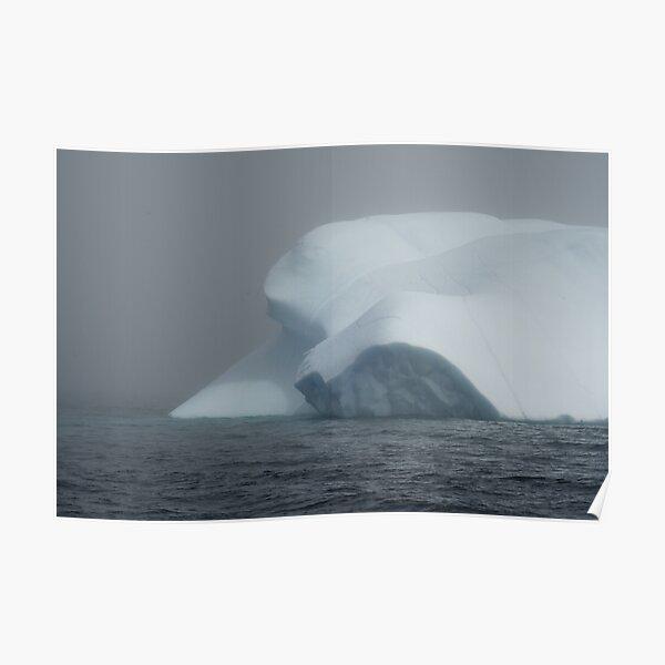 Misty Iceberg Poster