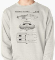 Corvette Stingray Patent - Classic Corvette Art - Antique Pullover
