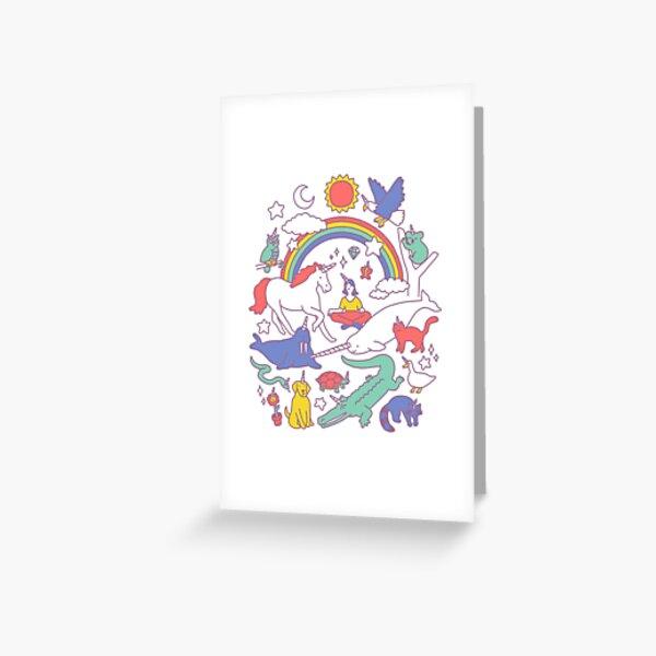 Unicorns! Greeting Card