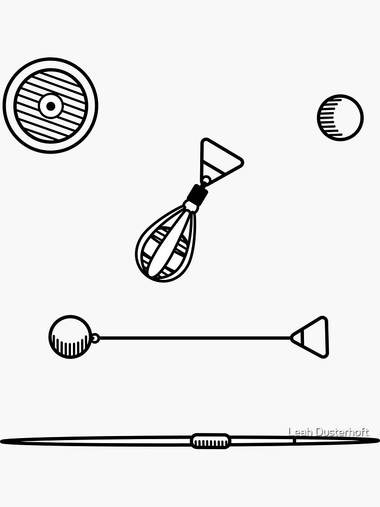 Throwing Implements Sticker Pack by LDusterhoft